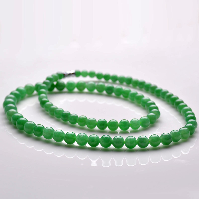 Z218 positronic jubilee ruixiang myanmar a cargo green jade necklace new natural old crater a cargo jade pendant with a certificate female models