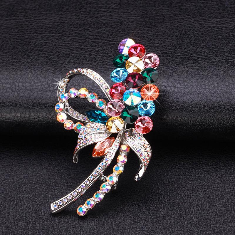 Zabrina dual sweater chain color austrian crystal brooch scarf buckle brooch korean female clothes and accessories