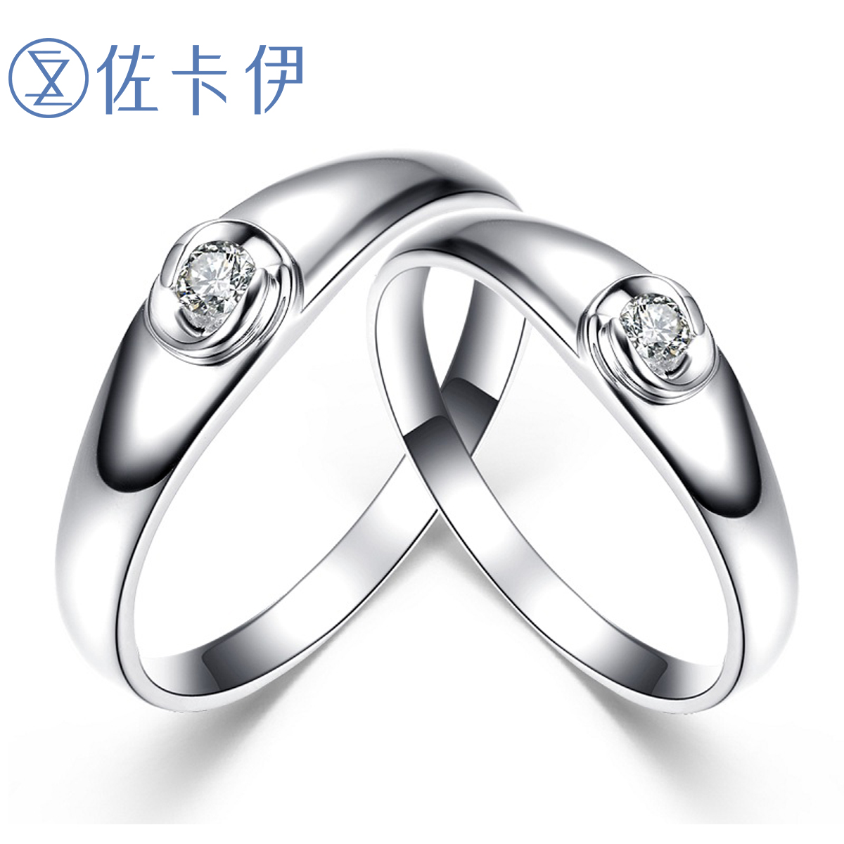 Zakaly gold couple rings nanjie nvjie diamond wedding ring diamond ring jewelry couple paragraph counter