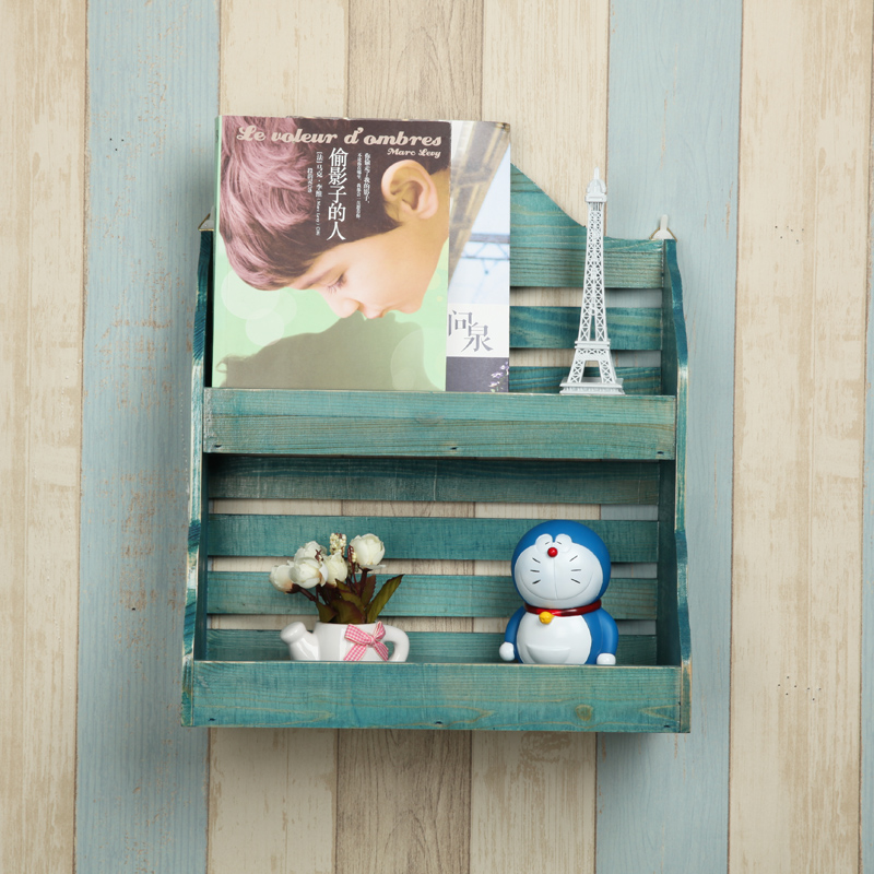 Zakka wood decorative shelving racks can be hanging wall storage rack debris racks accept custom factory outlets