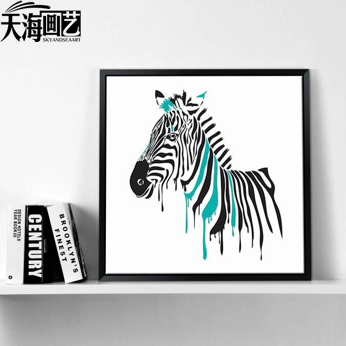 China canvas zebra paintings china canvas zebra paintings shopping get quotations zebra abstract paintings bedroom entrance decorative painting the living room minimalist dining room sofa background paintings altavistaventures Images