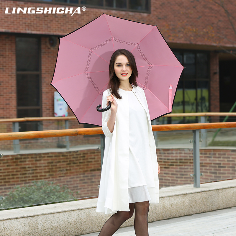 Zero lag reverse sun umbrella creative umbrella double umbrella skillet straight umbrella umbrella male female korean mobile phone