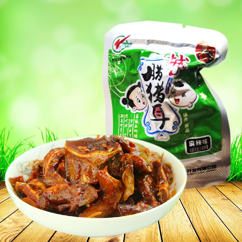 Zhao xiaochun port city of chongqing specialty snack snack authentic taste bulk loading weighing 250g spicy pig ear wax