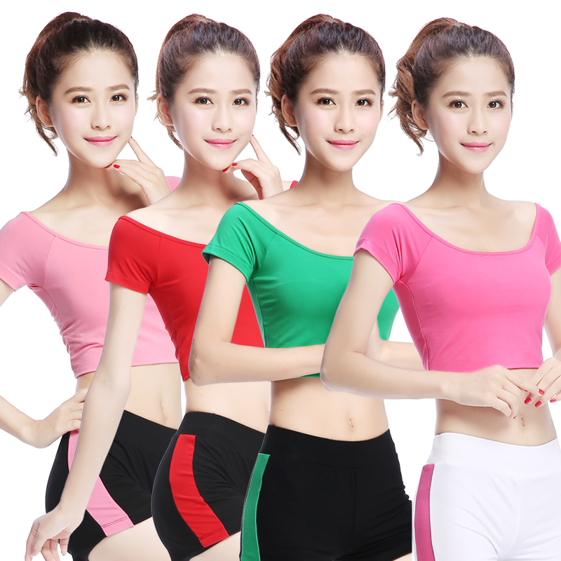 Zhongfu yoga clothes yoga clothes sleeveless summer short sleeve shorts sports shorts yoga clothes dance clothes workout clothes female summer