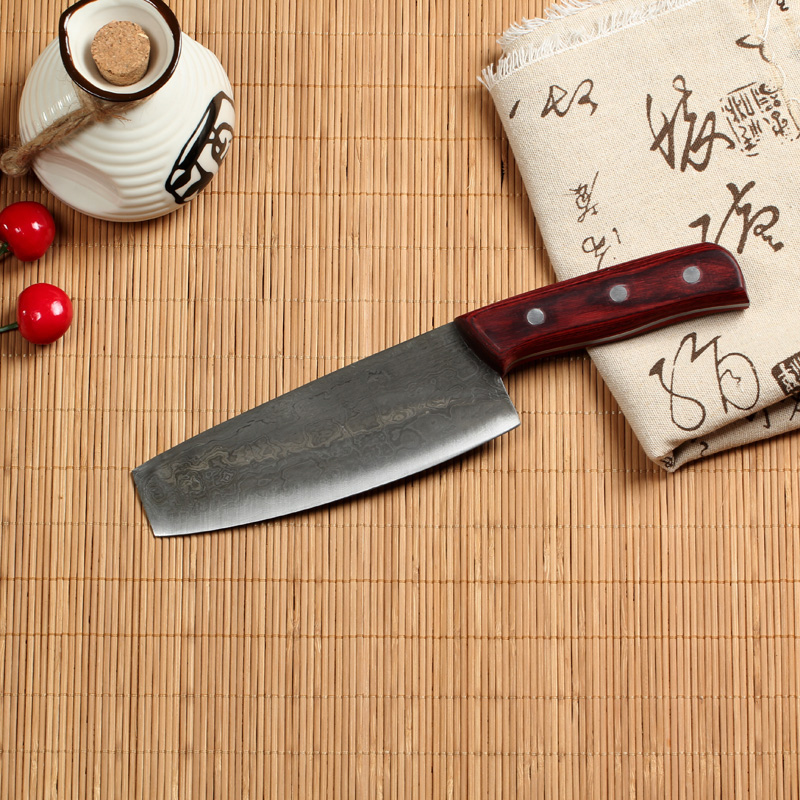 Zhouguang xing cutter knife embryo handmade forged steel clip pattern damascus steel steel fruit knife slicing knife kitchen knife
