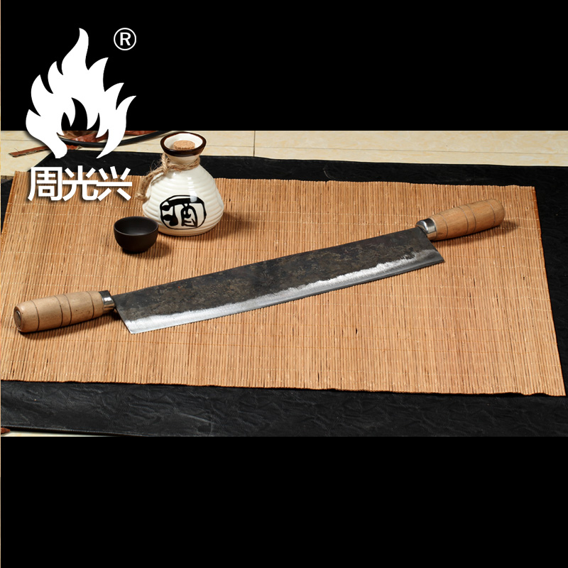 Zhouguang xing hand forged steel clip stud differency in frozen butter butter oil knife cut sugar slice sliced tofu Knife pole
