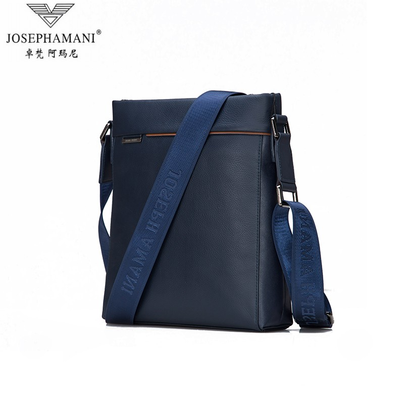 Zhuo fan armani man bag men's minimalist shoulder bag leather messenger bag casual bag man bag bag dark blue