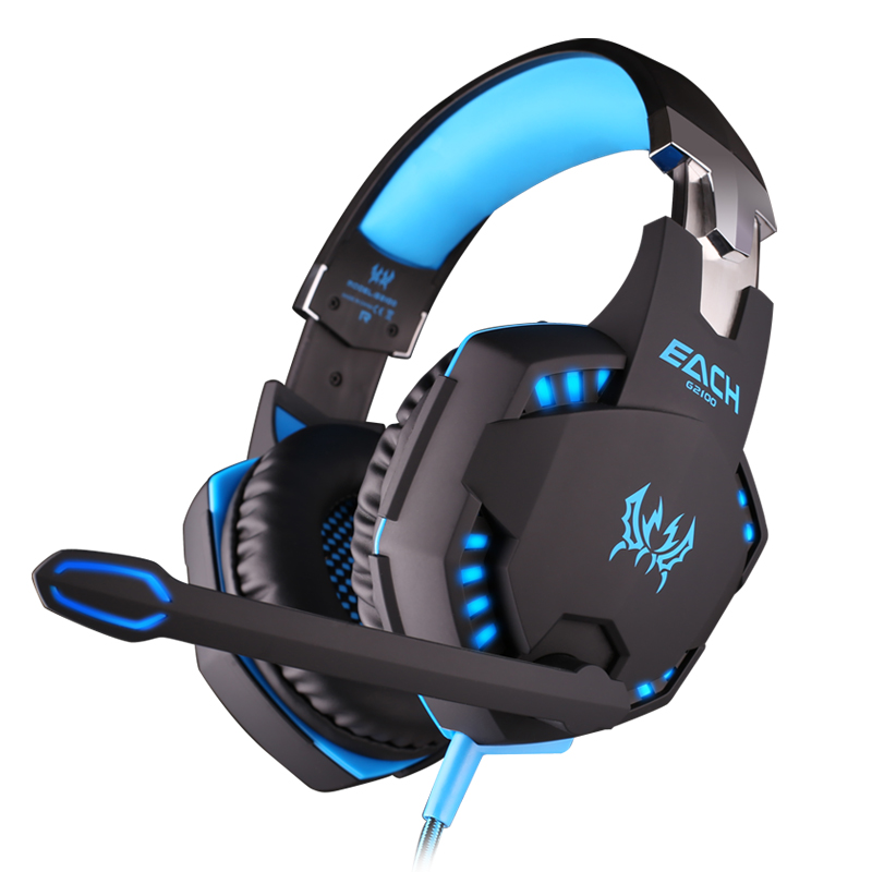 Zhuo g2100 vibration headset professional gaming headset computer music gaming headset with a microphone headset luminous