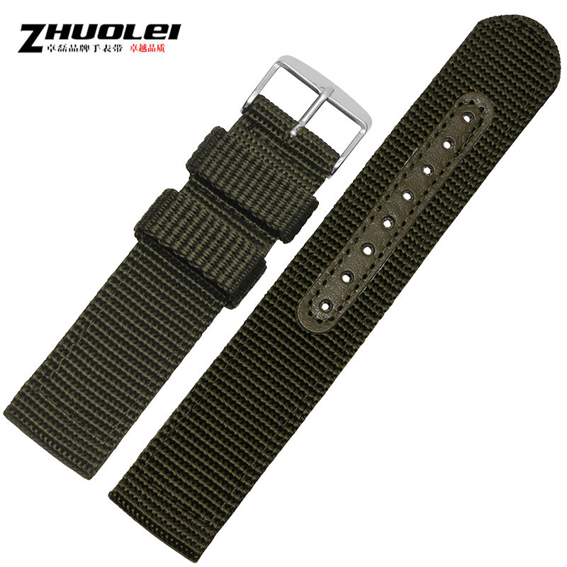 Zhuo lei nylon strap seiko adaptering moto ticwatch second generation of samsung s2 leather strap 18 20 22 24mm