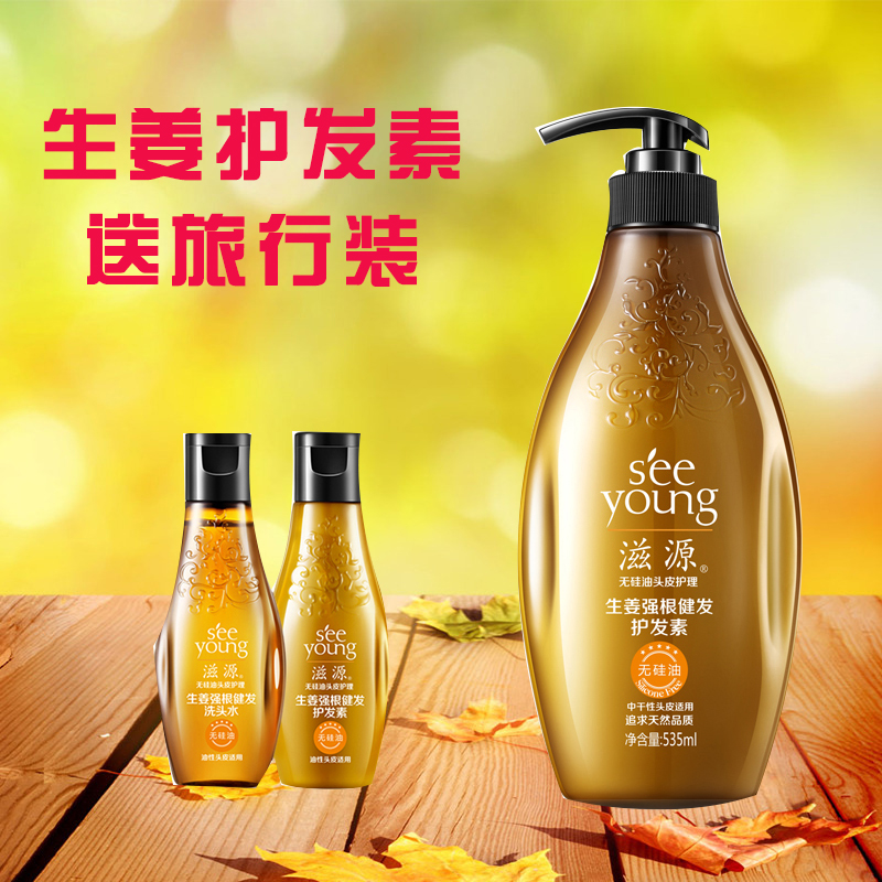 Zi source without silicone health care strong roots nourish moist ginger healthy hair conditioner 535 ml (in the dry )