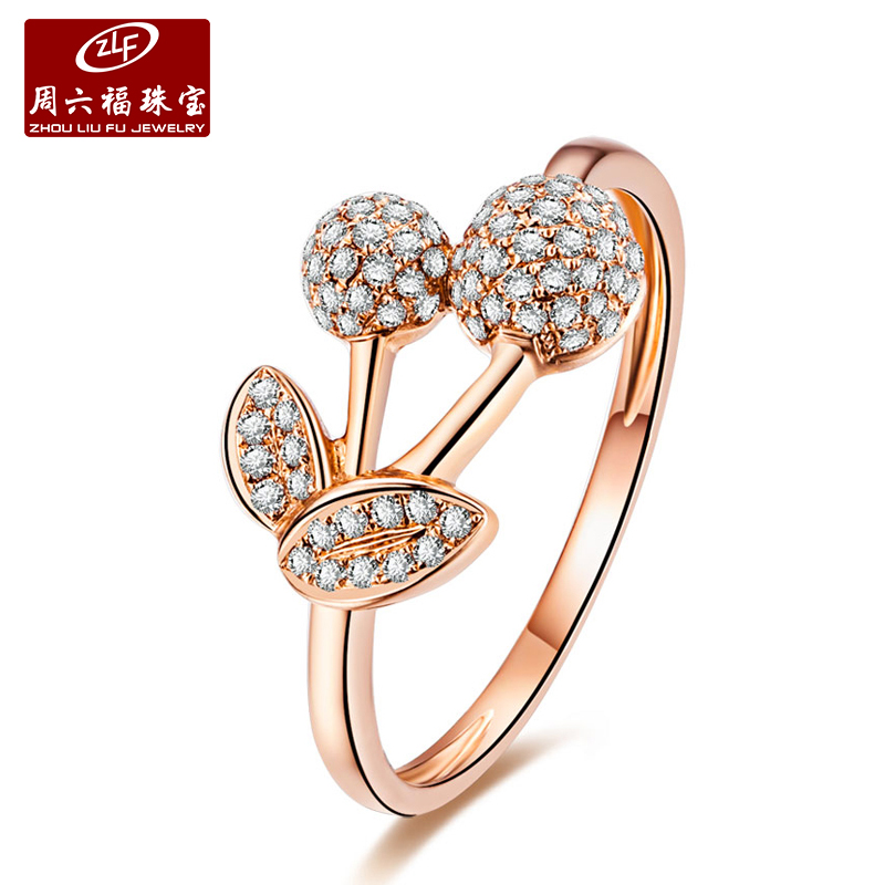 Zlf/saturday fook diamond ring female ring diamond pieces inlaid group 18k-color gold diamond ring wedding engagement ring diamond ring valentine's day