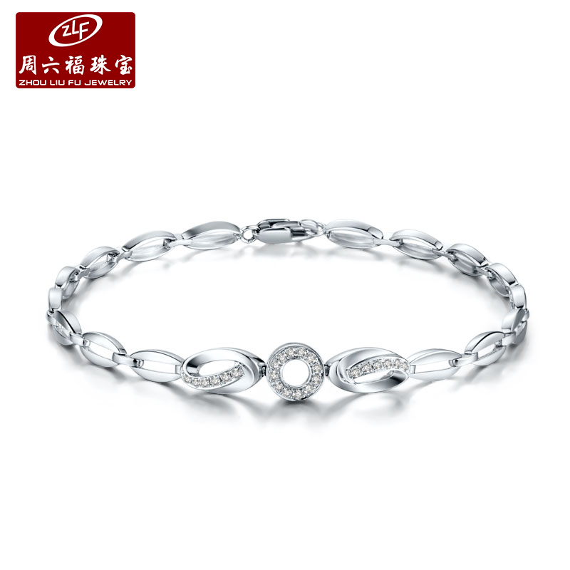 Zlf/saturday fook jewelry diamond bracelet k gold inlay diamond bracelet jewelry female models fine custom