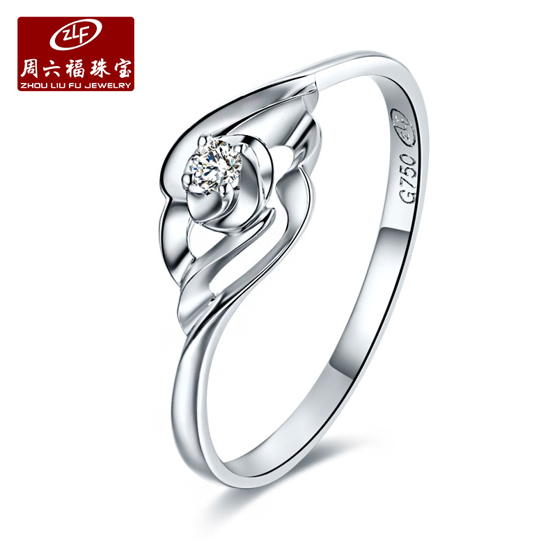 Zlf/saturday fook jewelry k gold diamond ring ring ms. female models fashion classic elegant white code
