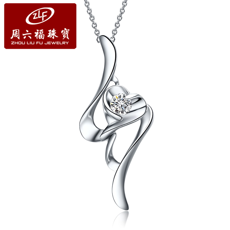 Zlf/saturday fook k gold diamond single diamond pendant diamond pendant pendant fashion hollow heart does not include necklace