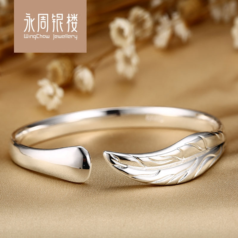 2016 popular fashion s999 silver bracelet korean female models simple jewelry japan and south korea and china wind family leaves hand jewelry