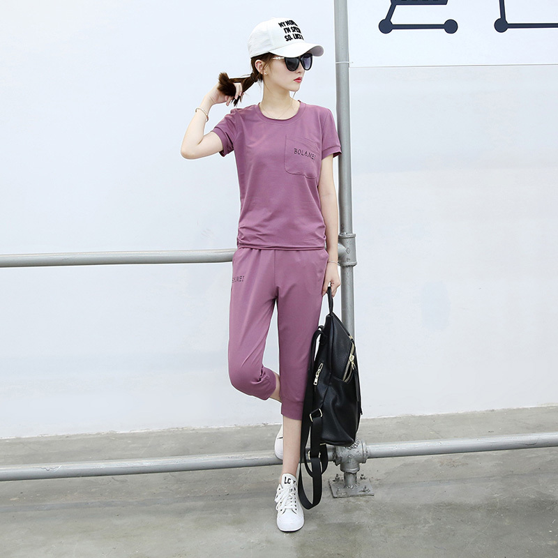 2016 summer new models korean summer slim casual sports suit small children early summer suit women's summer