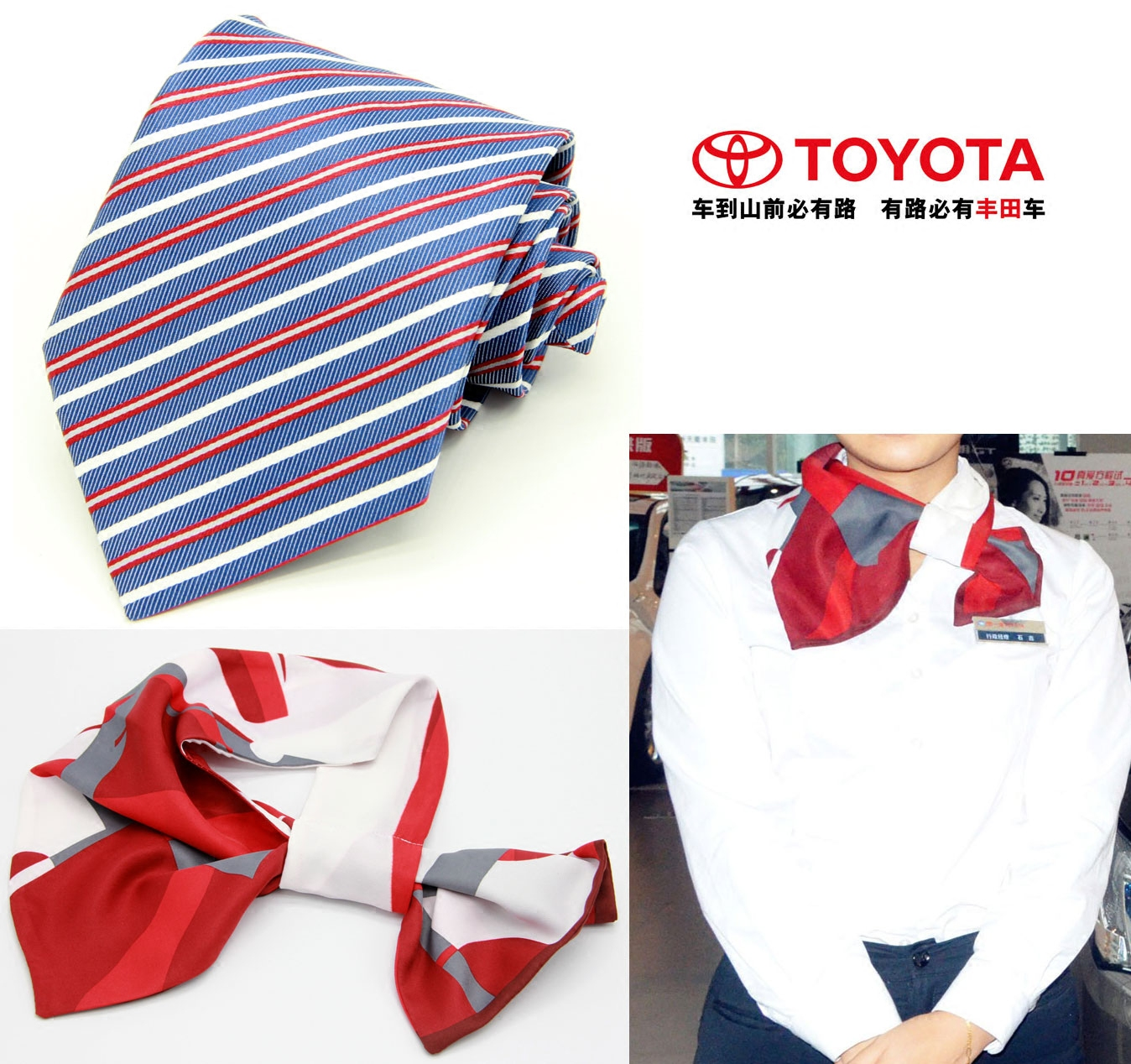3 free shipping guangqi toyota faw toyota 4s shop for men tie scarves ms. purple tie