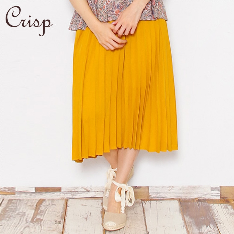3f79b133b253 Get Quotations · Crisp japanese women s 2016 summer new loose big swing  skirts pleated skirt and long sections