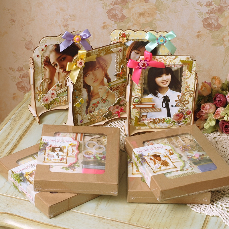 Dreamday wedding diy handmade wooden children make gorgeous handmade diy photo frame photo frame frame material package sof