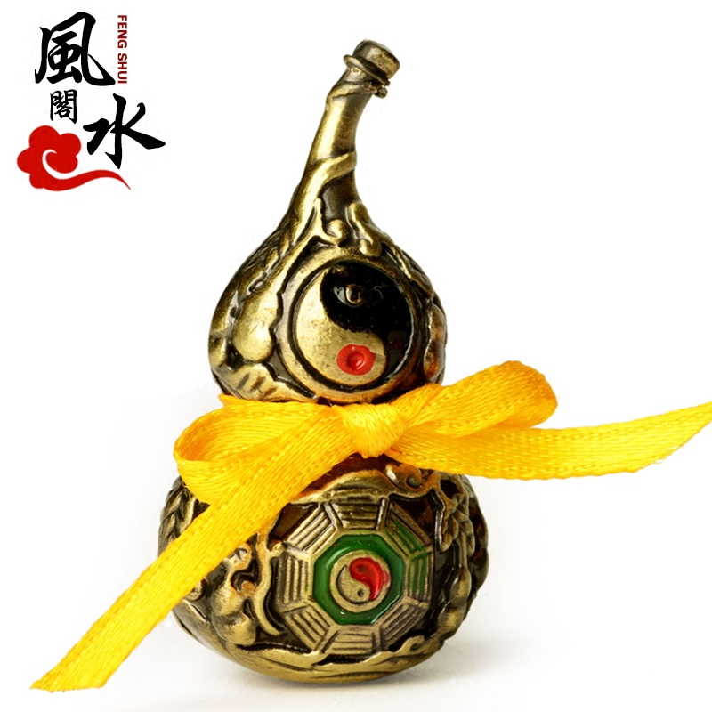 Feng shui court opening alloy mini trumpet auspicious feng shui small gourd gossip gourd ornaments home accessories