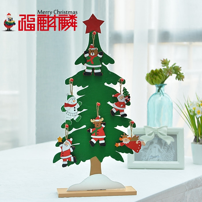 get quotations fu unicorn 46cm large wooden korean wooden desktop christmas tree christmas ornaments christmas gift ideas - Large Wooden Christmas Decorations