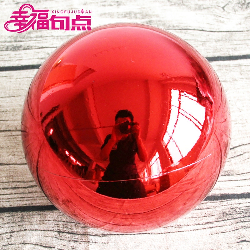 Happy end christmas ball 20 cm/25cm cm light ball christmas ball plating ball christmas decoration ball