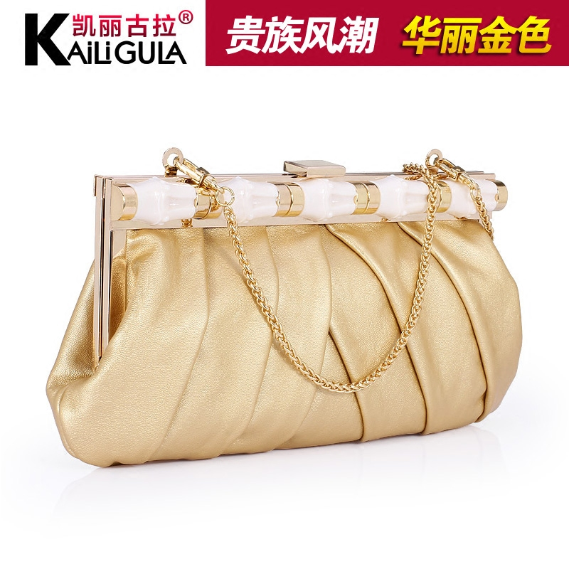 Kailigula new handbag small shoulder bag female bag clutch evening bag handbag chain in europe and america retro