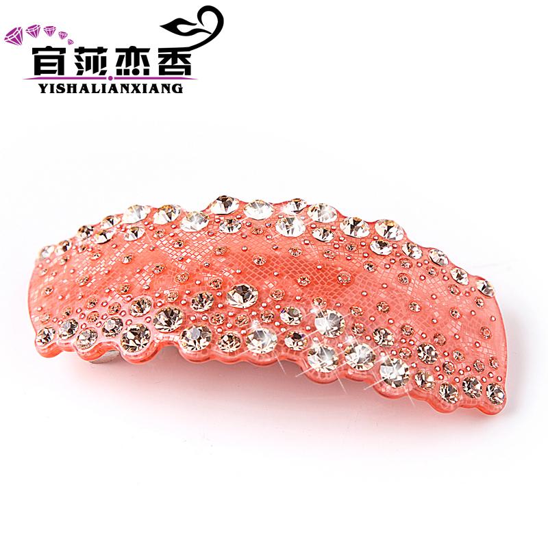 Love hong yi sha counter genuine diamond tiara top clip ponytail clip hair accessories hairpin bomb dish made hairpin cross clip hairpin spring clip