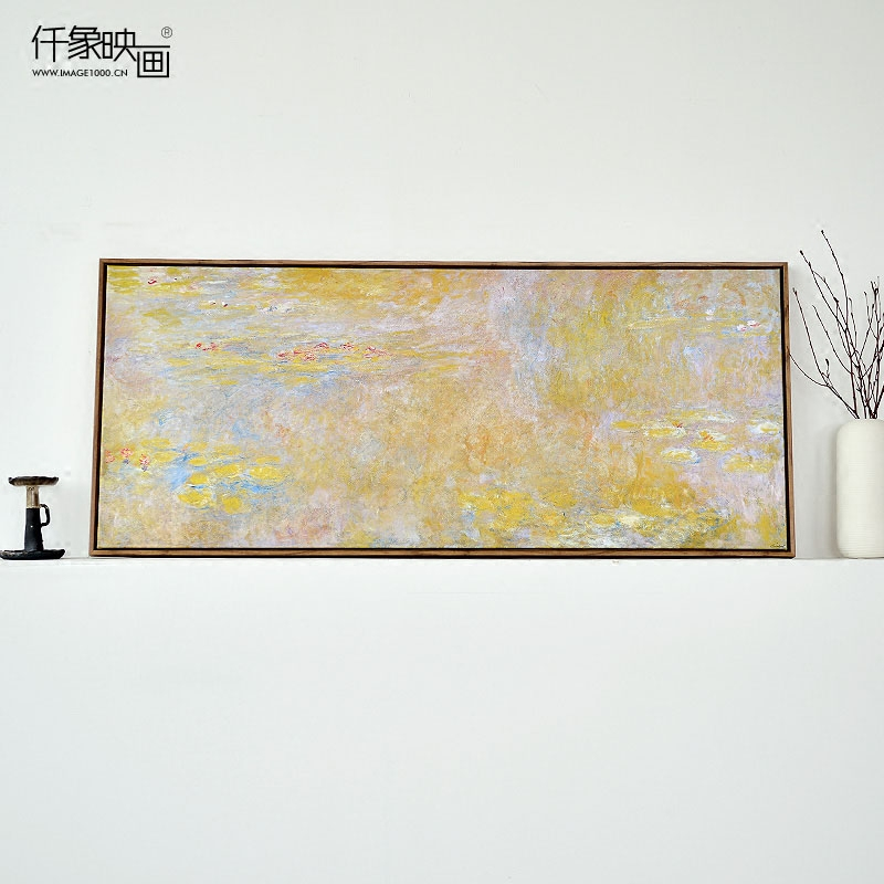 Monet's water lily paintings like thousand pictures banner hang frameless painting bedroom living room dining decorative painting mural paintings of european painting