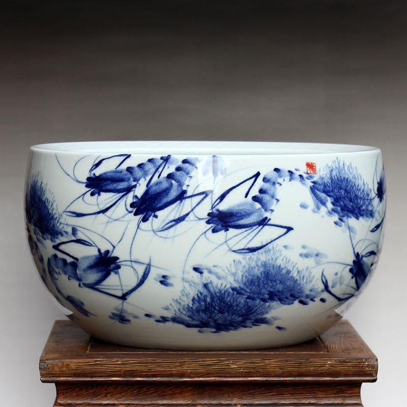 Special jingdezhen ceramics painted a variety of interest aquarium fish turtle tank aquarium tank water lily lotus bowl basin basin