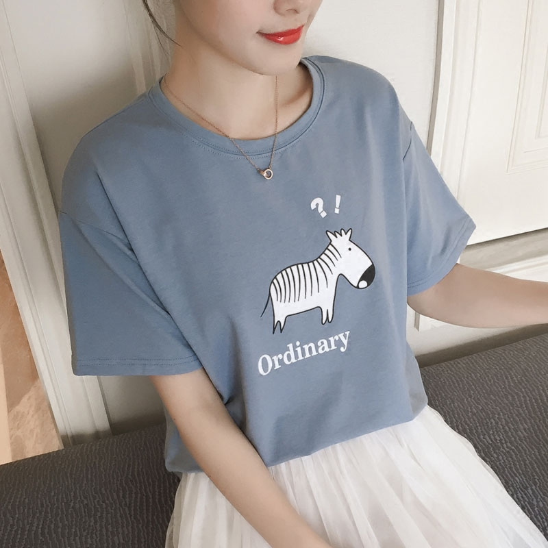 2016 spring and summer t-shirt cotton t-shirt female summer loose big yards influx of creative pattern compassionate korean version bottoming t