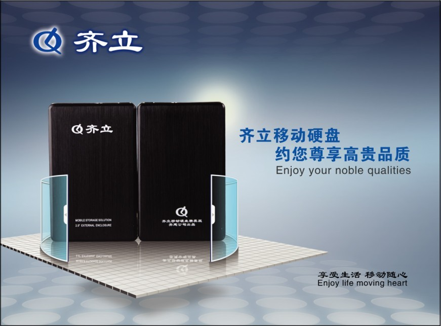 5's semicentennial antivirus send encrypted protective sleeve qi li genuine original 2.5 inch mobile hard disk elite edition