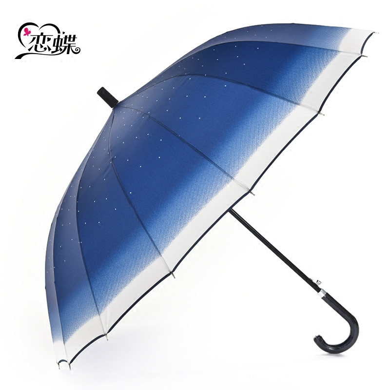 Butterflies love the stars oversized umbrella 16 bone korea creative double golf umbrella long umbrella business men and women in japan