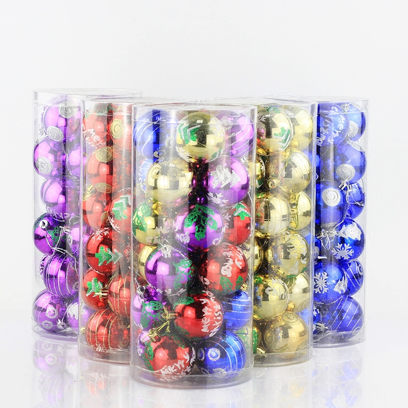 Christmas decoration ball light ball 6cm24 100个balls painted christmas decorations christmas tree ornaments accessories