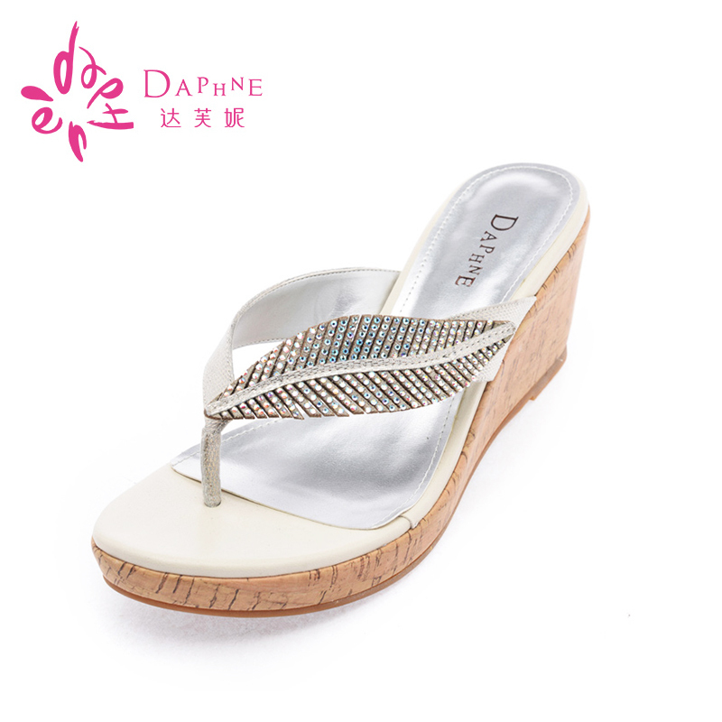 Daphne/daphne summer sandals slope with waterproof sandals rhinestone sandals and slippers a millet