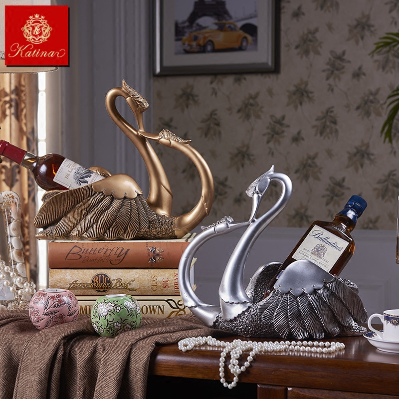 å¡æå¨euclidian swan wine rack wine ornaments decorations wedding gifts practical furnishings crafts