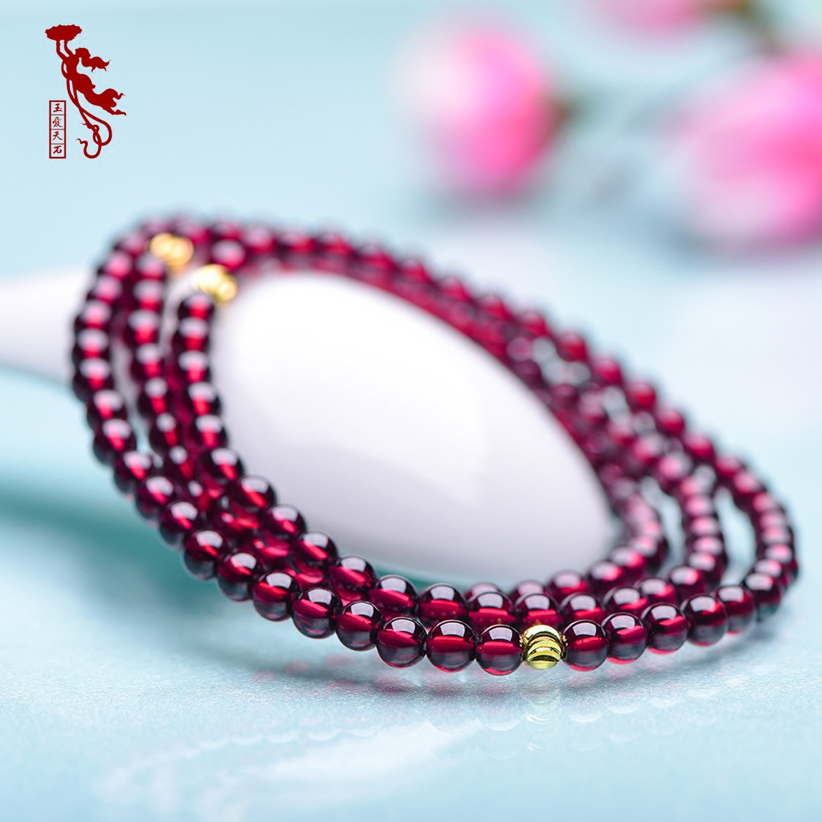 Genuine natural crystal garnet bracelet female multi circle 6a-grade kabob teeth black garnet burgundy female models silver hand