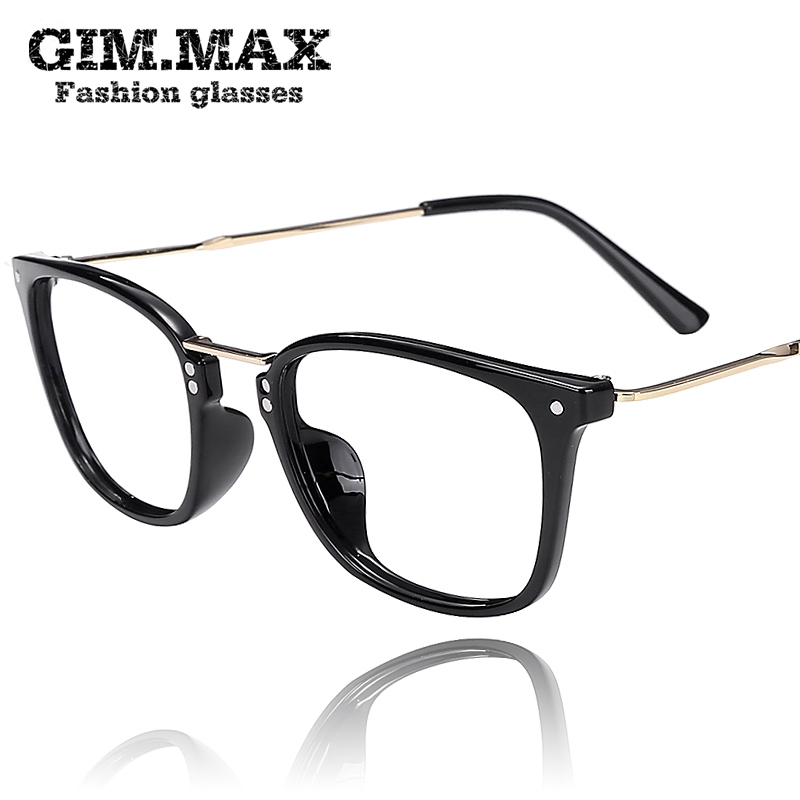 Gimmax full frame tr90 frames male myopia ultralight little face black plain mirror glasses frame female radiation Influx of men