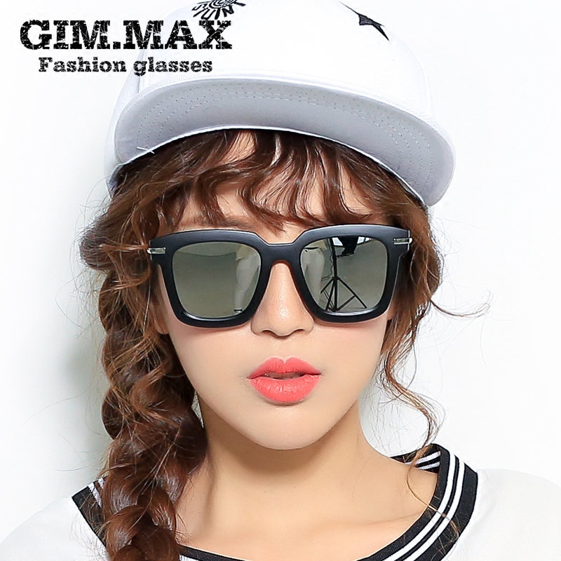 Get Quotations · Gimmax large square frame sunglasses color film sunglasses sunglasses female personality korean decorative retro sunglasses sunglasses
