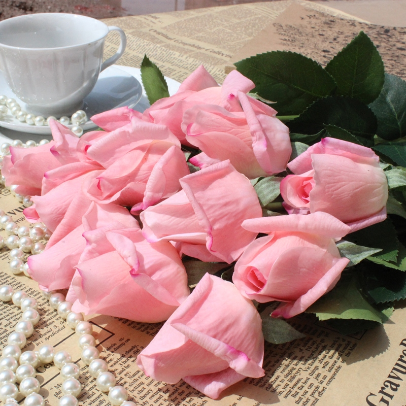 Hot feel moisturizing rose artificial flowers simulation roses valentine's day wedding gift decoration living room decoration