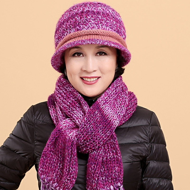 1d020b46aaa Get Quotations · In the elderly warm cotton cap hat female autumn and winter  hat elderly mother hat piece