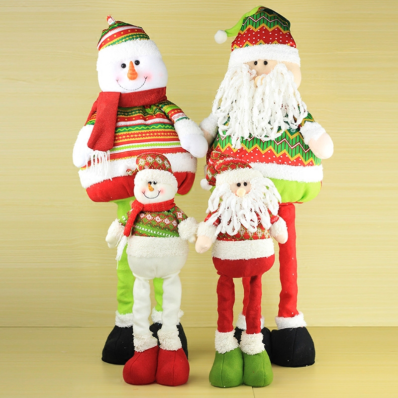 Love telescopic santa claus christmas snowman christmas gifts christmas decorations christmas window decoration props