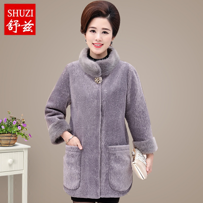 603a11fc64 Get Quotations · Middle-aged women s autumn and winter fashion water  ripples rosemary schultz sweaters mother dress big