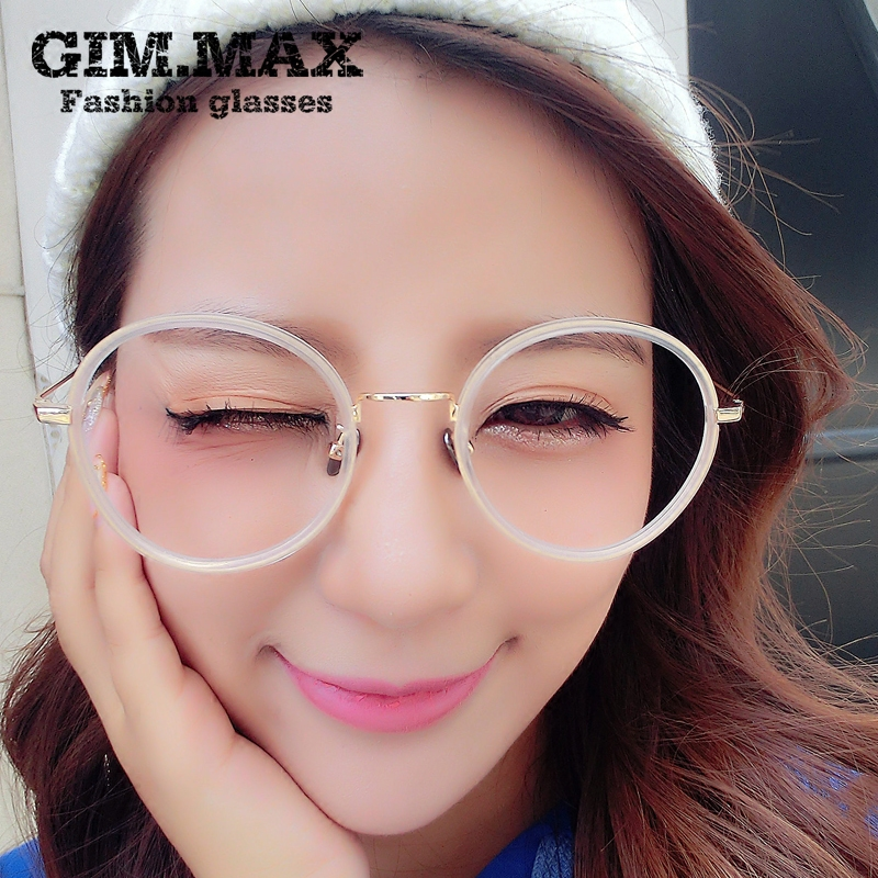Ms. gimmax round lightweight tr90 glasses frame big box myopia frame glasses frame 016 new plain mirror the influx of thin face 2