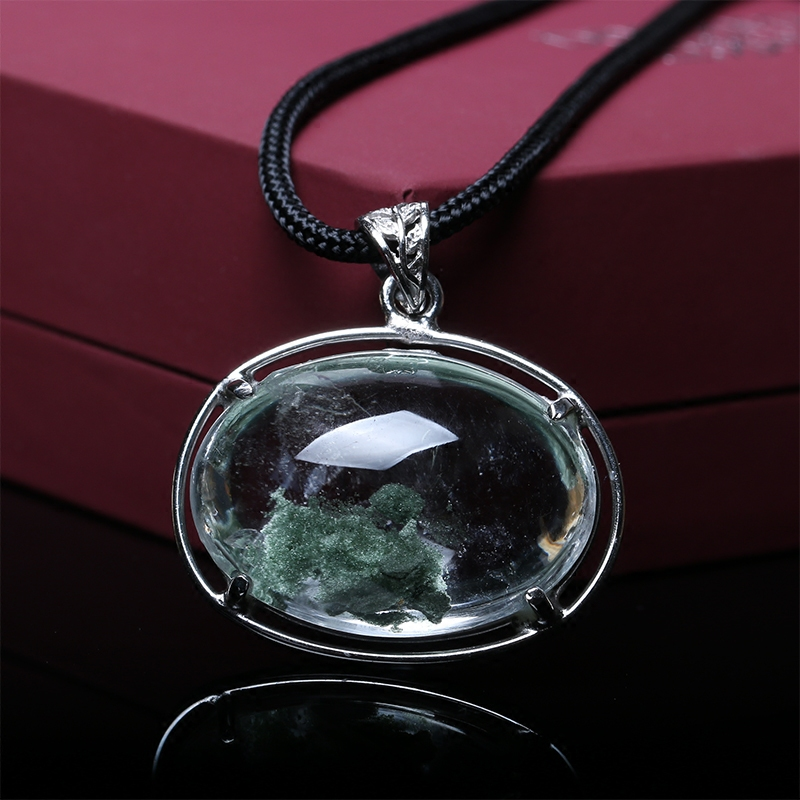 Natural crystal pendant phantom basaltic turtle fortune mid auspicious objects student day gift necklace