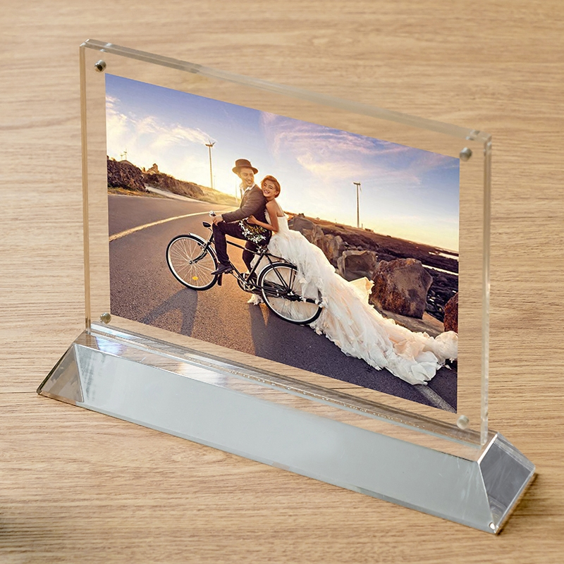 New acrylic crystal clear it is true creative advertising price tag display card table horizontal version of the taiwan card photo frame swing sets