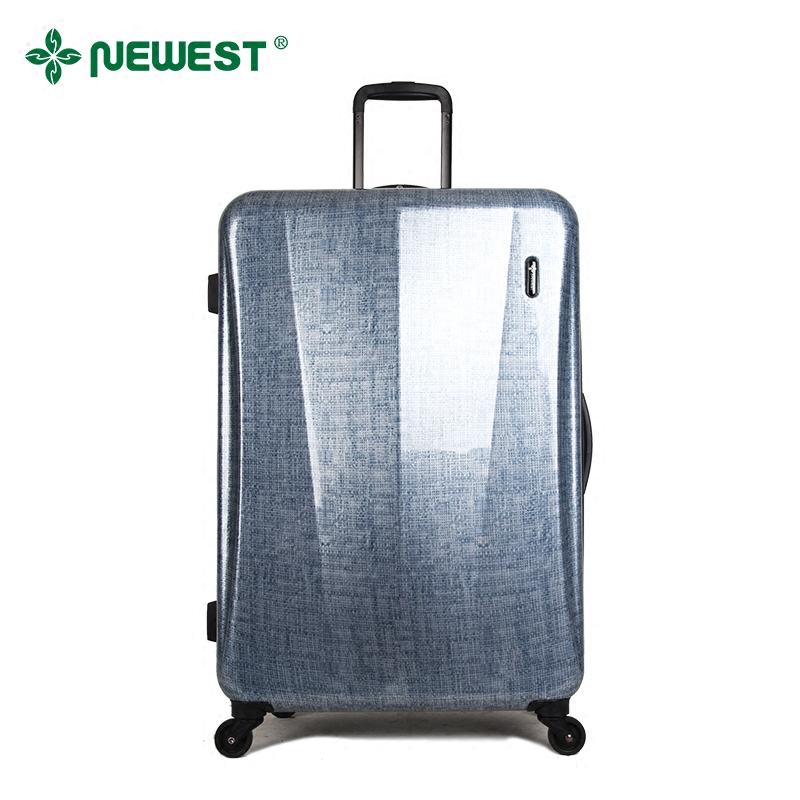 Newest/to the new ap series of new linen pattern mirror pc caster travel luggage trolley case 28 inch hard case