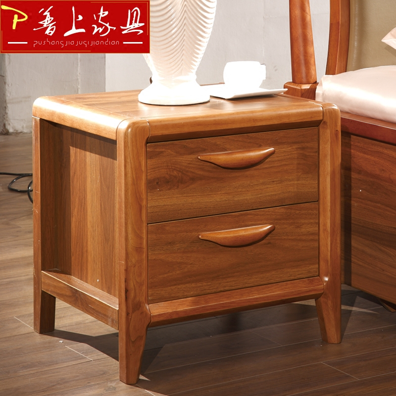 On cape are'small modern chinese solid wood double drawer storage cabinets bedroom furniture bedside cabinet storage cabinet lockers