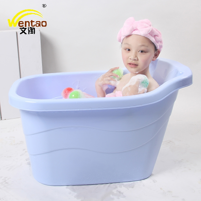 Oversized children's bath barrel bath tub baby bath tub bath barrel children can take baby mu thick plastic bathtub
