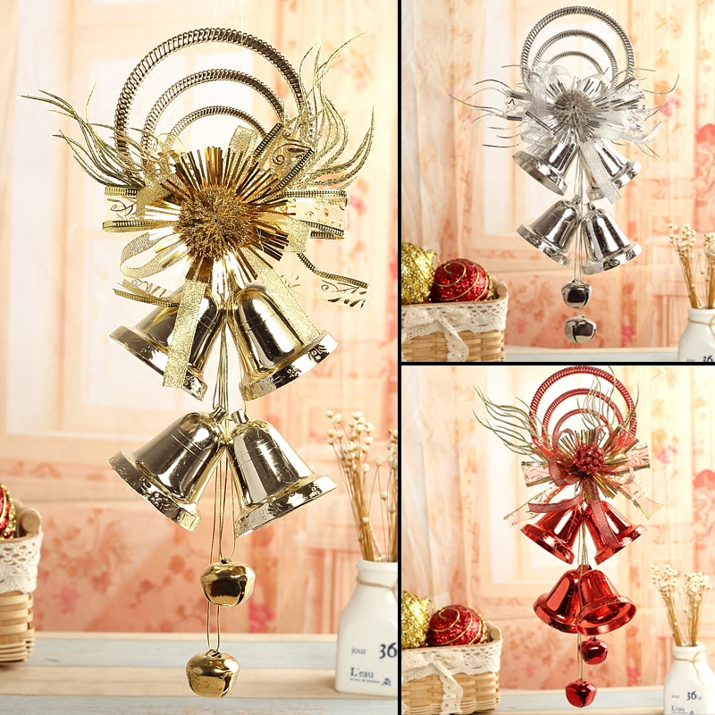 Qixuan christmas decorations christmas tree decoration and gifts large christmas wreath hanging door bell pendant